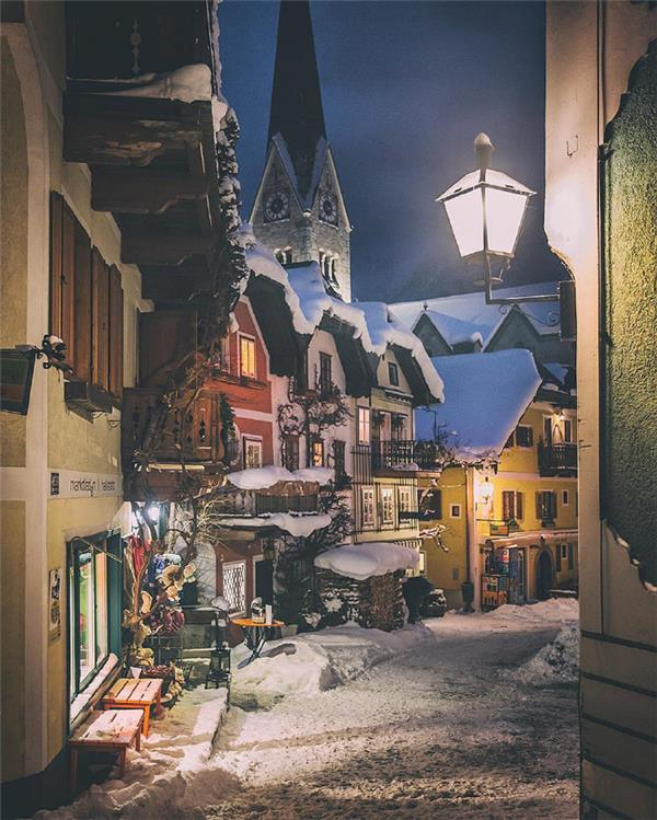 奥地利 Hallstatt小镇的冬天