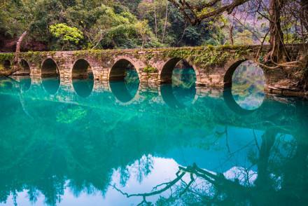 贵州省黔南市小七孔旅游景点