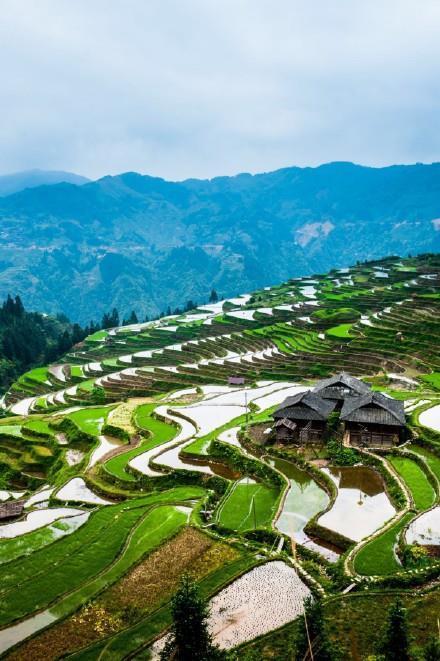 贵州省黔东南市加榜梯田旅游景点