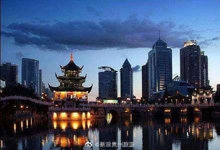 贵州省贵阳市甲秀楼旅游景点