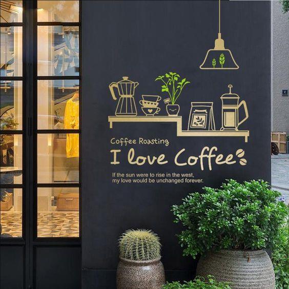 咖啡厅室内墙面创意