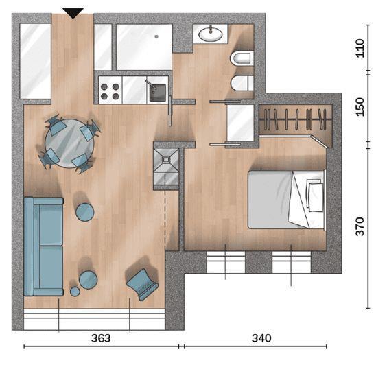 小户型住宅平面