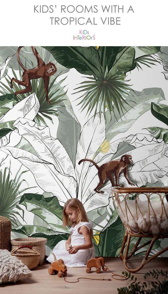 大幅大叶子的壁画