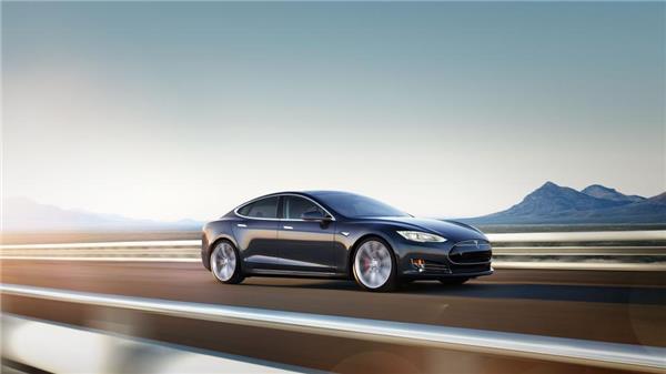 特斯拉模型S汽车背景
