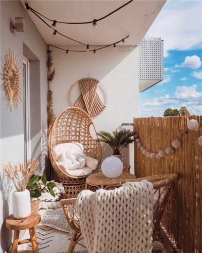 阳台芦苇栏杆