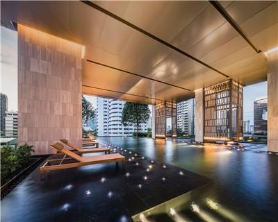 泰国曼谷XXXIX豪华公寓屋顶架空层景观 / Shma Company Limited