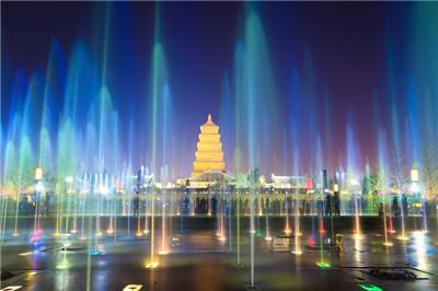 大雁塔喷泉