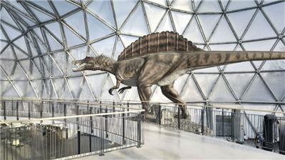 Dinosaur Theme Park Entrance Building