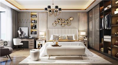 现代轻奢大型卧室设计