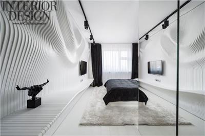 泾渭分明——参数化设计下的黑白卧室