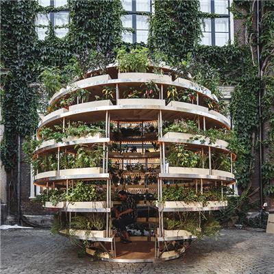 space10打造growroom装置艺术作品 构建未来城市农耕新方向
