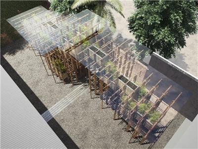 武重义为谢尔曼当代艺术基金会设计的竹亭
