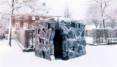 建筑学硕士研究生们打造的缝隙亭