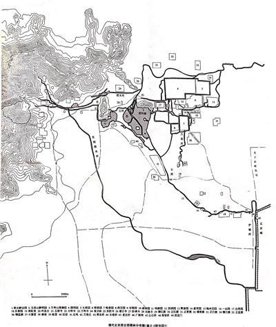 清代北京西北郊园林分布图