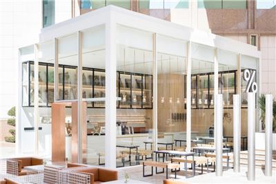 咖啡厅装修效果图白色